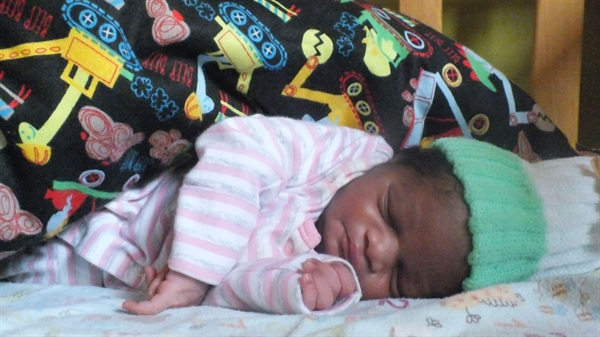 Our new baby at Bethel Babies Home